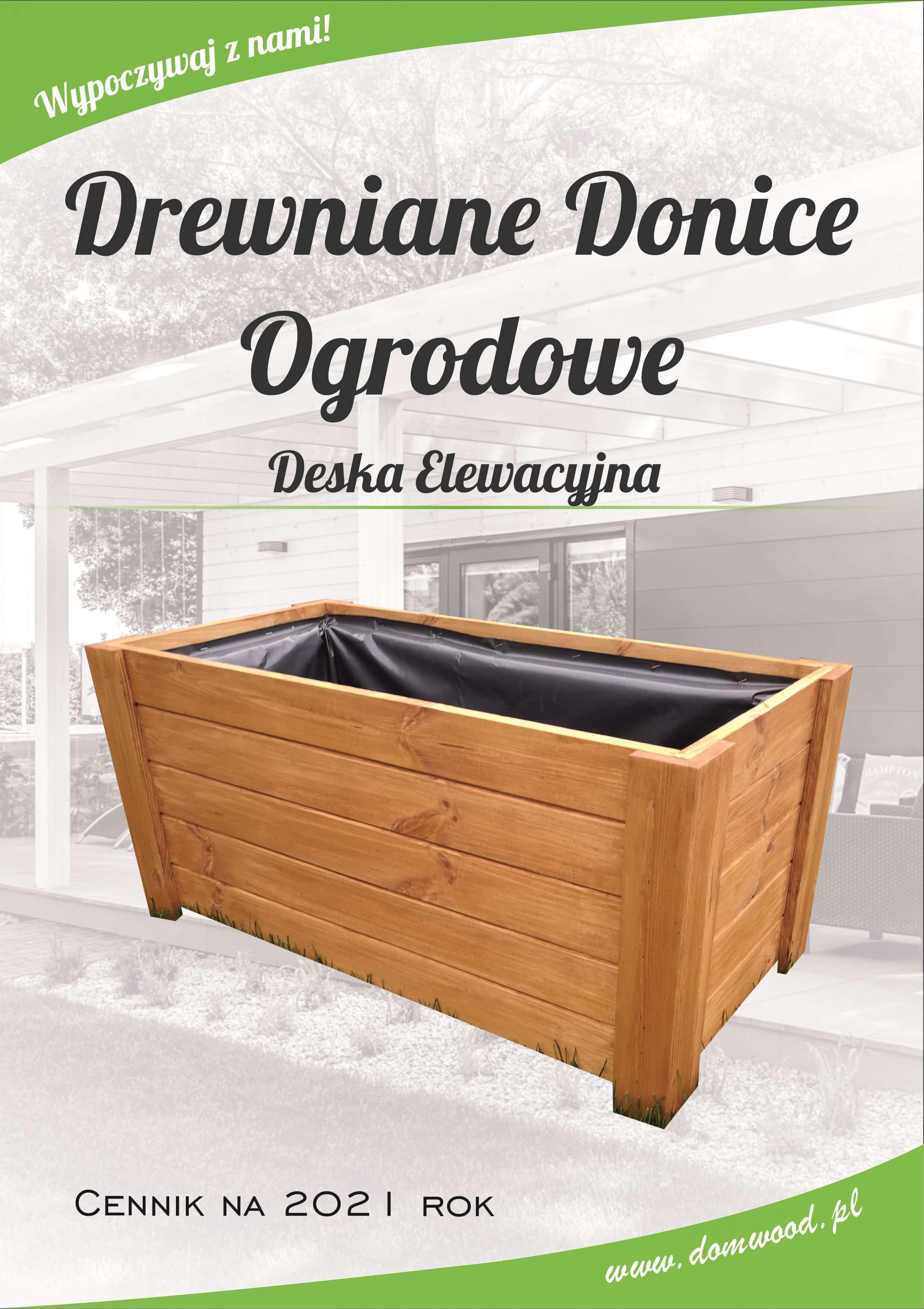 Drewniana donica z deski elewacyjnej
