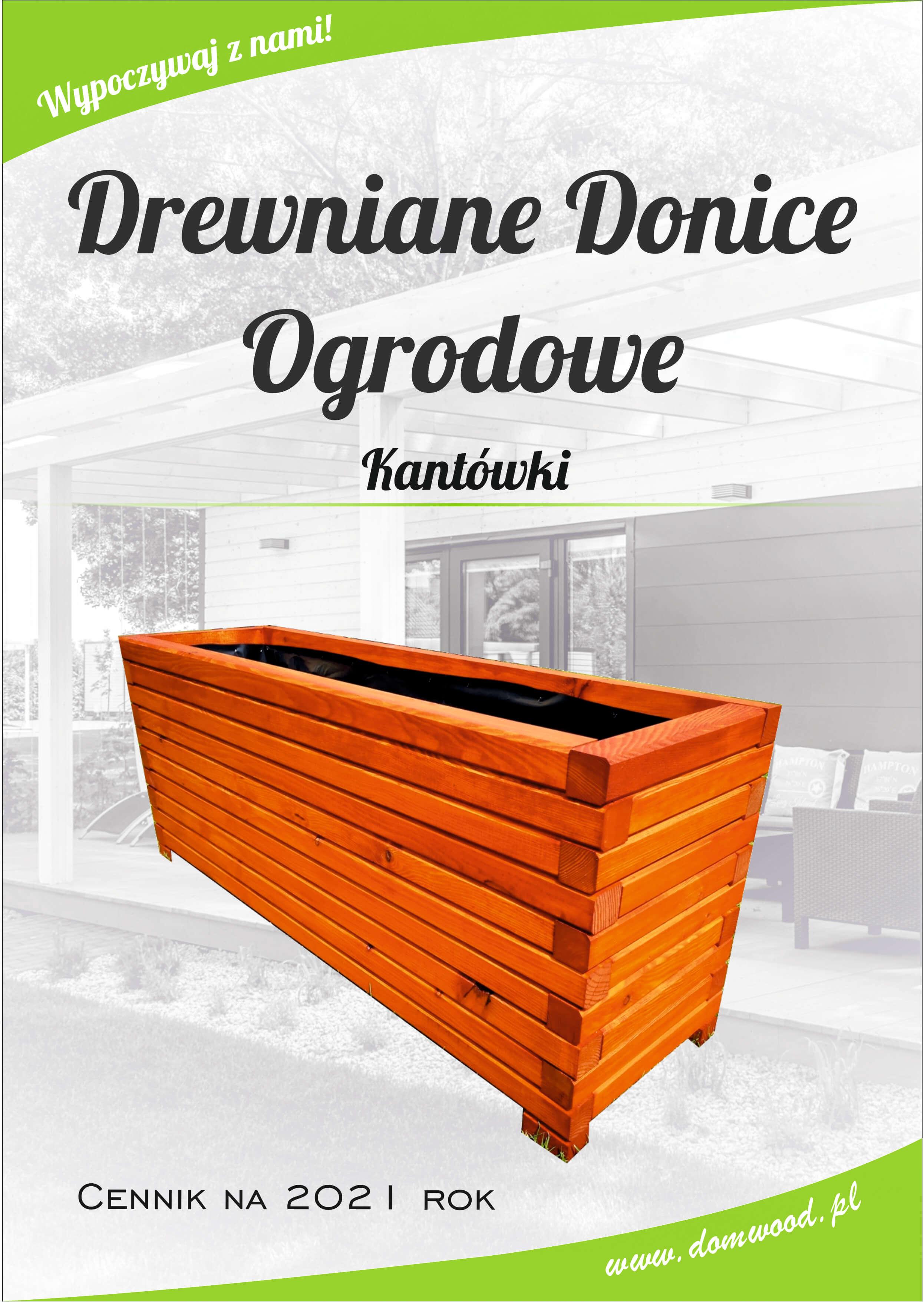 Drewniana donica z kantówki